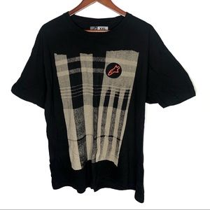 Alpinestars men black short sleeve graphic t-shirt